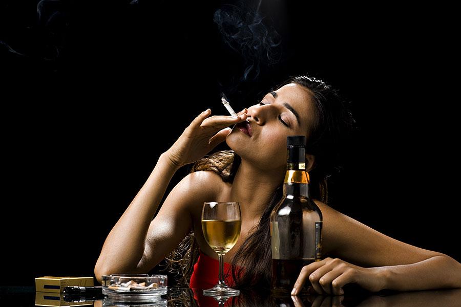 alcohol or smoking